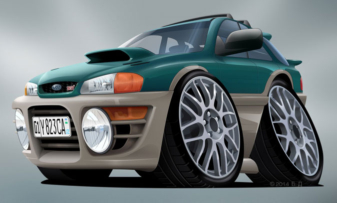 Шарж на Subaru Impreza