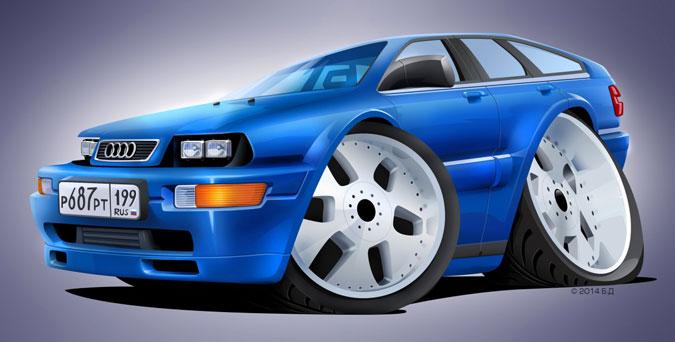 Шарж на Audi 200