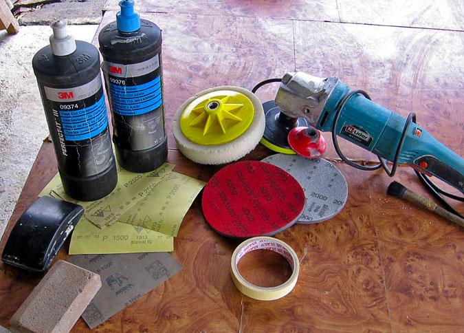 Инструмент для полировки кузова